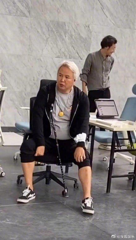 ▲林瑞陽白髮蒼蒼。(圖/搜狐娛樂微博)