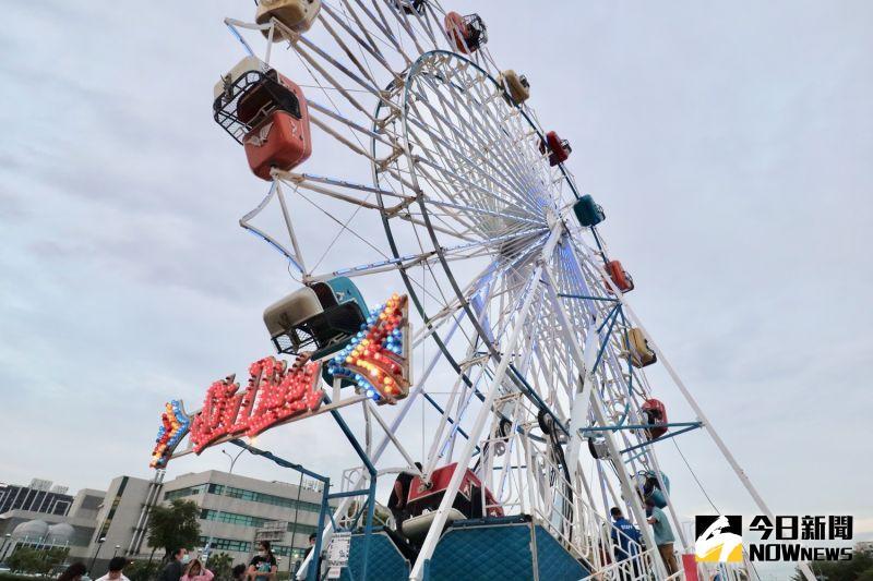 ▲高達 25 公尺的尖叫飛天輪,是園區內的人氣設施。(圖/記者陳致宇攝)