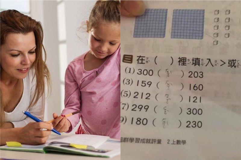 ▲網友發現女兒寫數學很快,仔細一看傻眼了。(示意圖/翻攝自《pexels》及《爆怨公社》 )