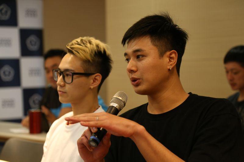▲羽球雙打好手盧敬堯(右)、楊博涵(左)也一同參與。(圖/中華奧會提供)