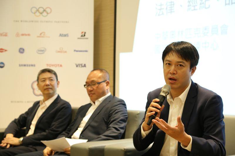 ▲中華奧會舉辦運動經紀論壇,展逸國際張憲銘董事長到場分享。(圖/中華奧會提供)