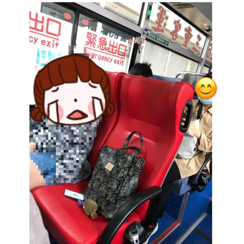 ▲網友分享自己搭公車,遇到有人用包包先幫朋友佔位,讓她非常傻眼。(圖/翻攝爆怨公社)