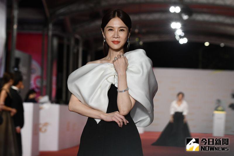▲謝盈萱出席金鐘55星光大道。(圖/NOWnews影像中心攝 , 2020.09.26)
