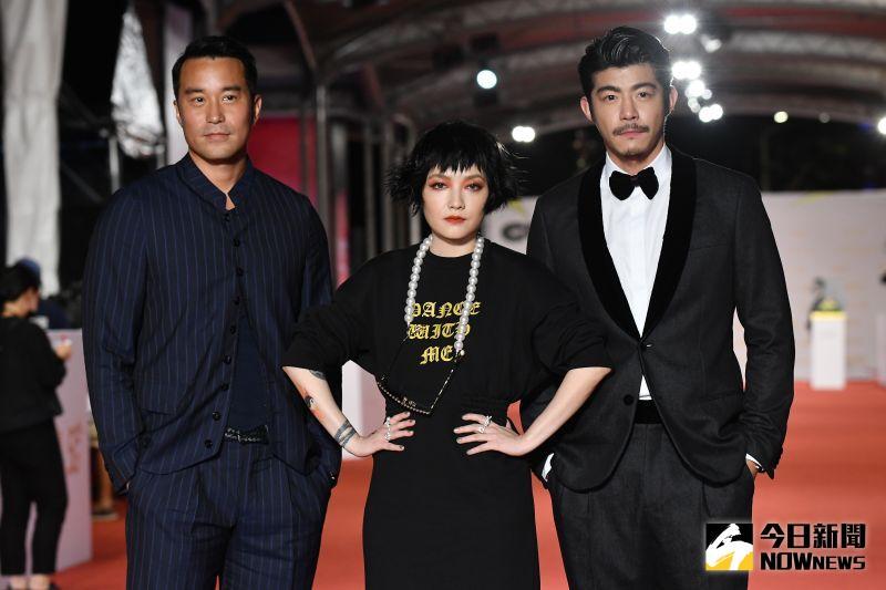 ▲《罪夢者》張孝全(左起)、范曉萱、王柏傑。(圖 / NOWnews影像中心)