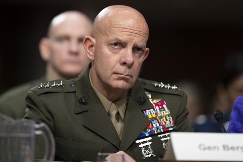 ▲美國海軍陸戰隊司令伯格認為,美軍應將部隊部署到更廣泛的區域,以應對中國日益增加的威脅。資料照。(圖/美聯社/達志影像)