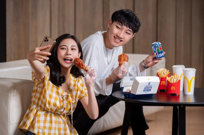 ▲韓式炸鷄近年越趨盛行,台灣麥當勞看準趨勢,誓言帶給消費者最正宗的「韓風炸鷄腿」。(圖/業者提供)