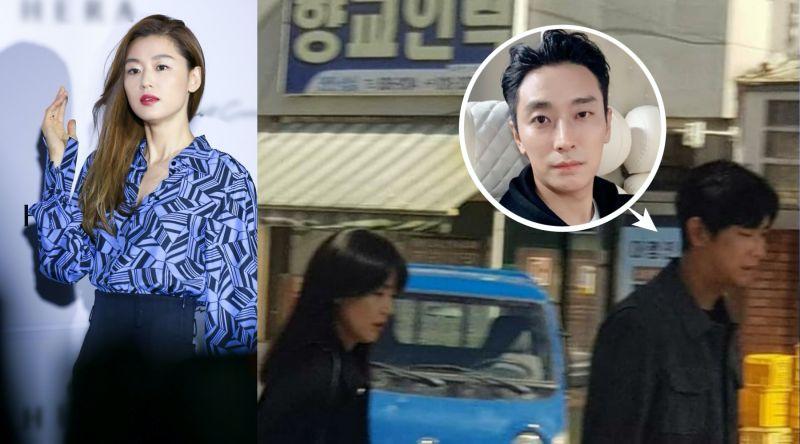全智賢剪掉招牌長髮!與<b>朱智勛</b>「情侶裝上班」被捕獲