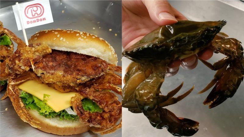 日本整隻炸螃蟹漢堡 網友:真實版美味蟹堡?