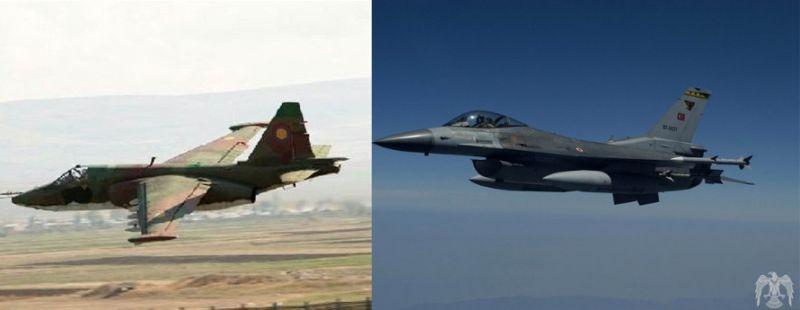 快訊/傳土耳其F-16擊落亞美尼亞蘇-25戰機 飛行員死亡