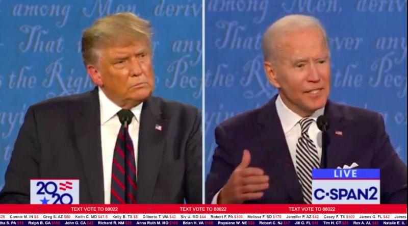 美國大選首場辯論關注6議題 最新民調拜登領先9百分點