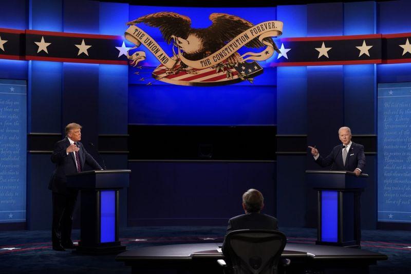美國大選辯論激戰 川普瘋狂插嘴、拜登怒嗆:閉嘴!