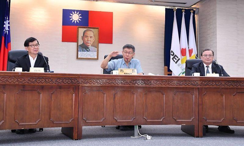 台北市長柯文哲30日上午參與捷運工程招標說明會,致詞時表示,為了防範工程招標及建造過程中有弊案發生,將成立廉政平台,並設立申訴專線。