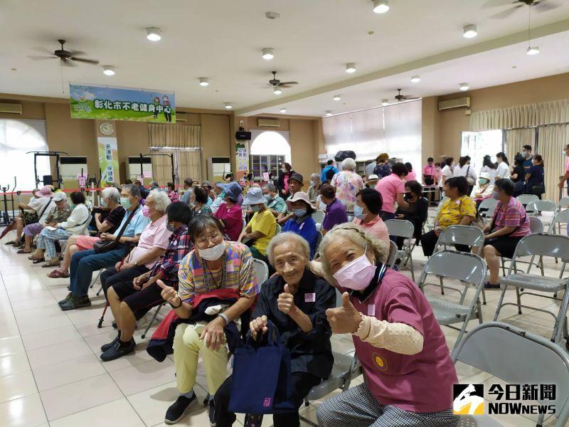 ▲95歲的高阿嬤說,很開心能來參加活動。(圖/記者葉靜美攝,2020.09.30)
