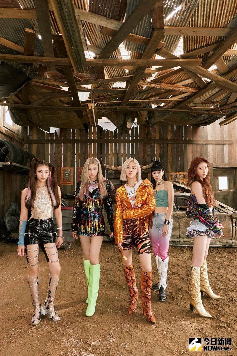 ▲LIA(左起)YEJI、RYUJIN、YUNA、CHAERYEONG等人被封為「新一代KPOP代表女團」。(圖/環球)