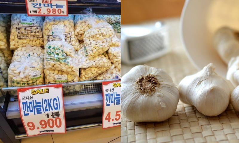 ▲生活在韓國的女網友透露韓國蒜頭價格超便宜,疑惑台灣為何如此貴,貼文一出,網友們則認為「不能這樣比」。(左圖,翻攝自《爆怨公社》/右示意圖,取自pixabay)