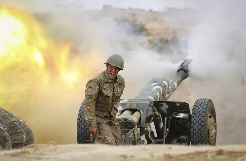 ▲亞美尼亞與亞塞拜然陷入戰爭。(圖/美聯社/達志影像)