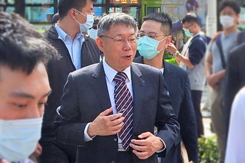 台北市長柯文哲1日表示他願意與國民黨立委蔣萬安見面,他沒太多政治計算,就是個性直白。( 圖 / 記者陳弘志攝,2020.10.01 )