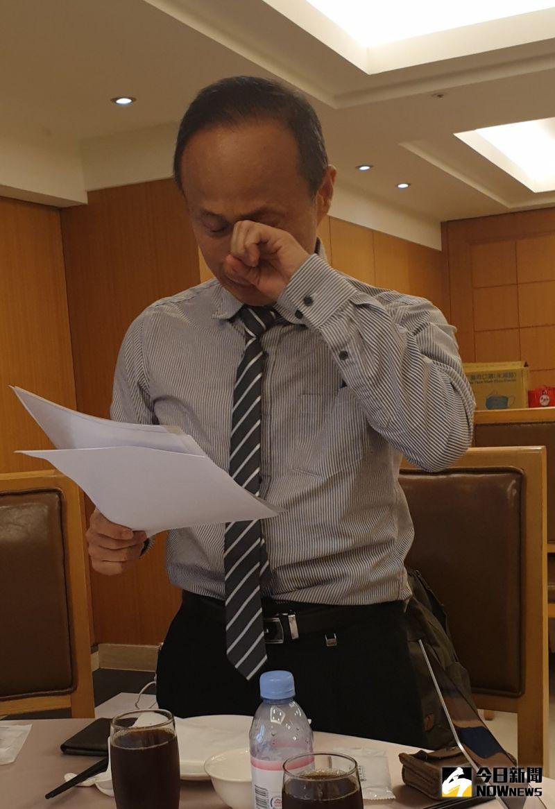▲國家隊違法轉包增產口罩,釩泰負責人李國鈺今現身說明,落淚致歉:一定負責。(圖/金武鳳攝,2020.10.1)
