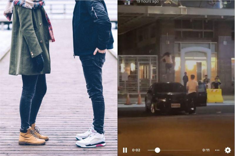 ▲網友撞見,有名人妻疑不滿丈夫刪紀錄,在台南當街爬上車頂狂跳。(示意圖/翻攝自《pixabay》及《台南爆料公社-台南最大社》 )