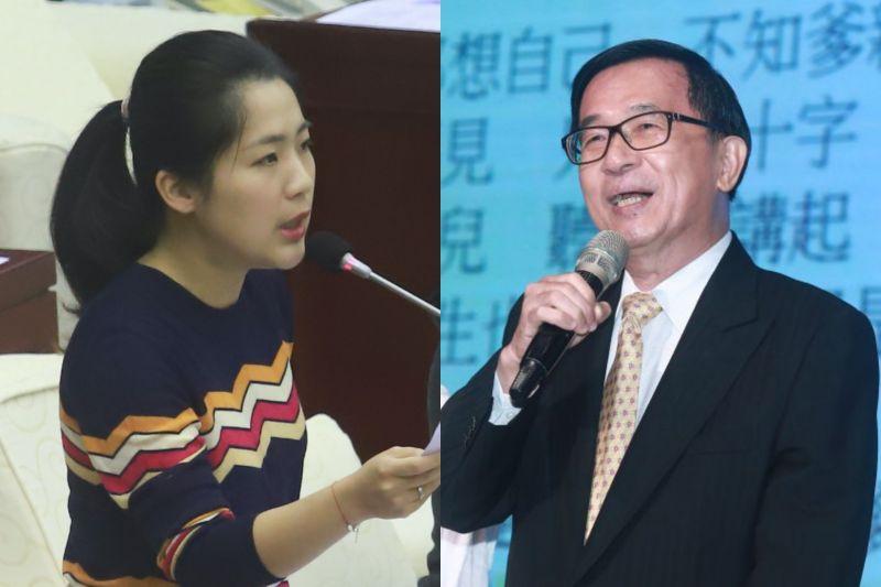 前馬辦發言人、國民黨台北市議員徐巧芯,與前總統陳水扁針對兵役制度問題,在網路上打起口水戰。