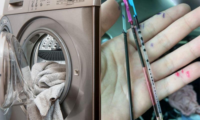 女將原子筆丟入洗衣機!下秒「墨水爆出」 結局網全看傻