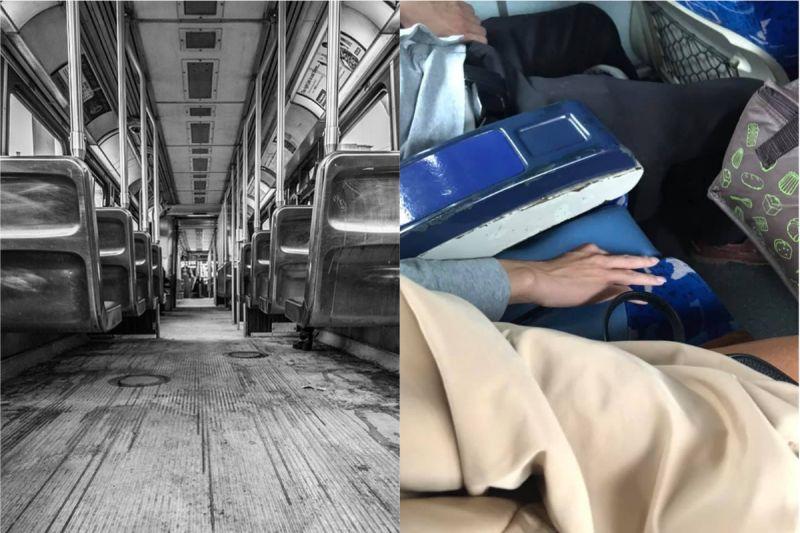 ▲女網友搭乘客運時,隔壁男生竟趁機伸出「鹹豬手」。(圖/翻攝自《pixabay》及《宜蘭知識+》 )