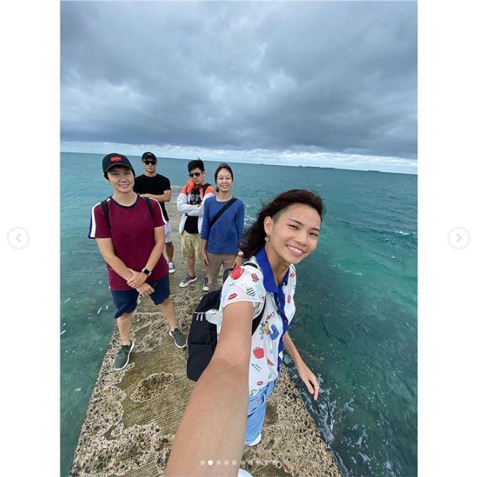 ▲我國羽球球后戴資穎和團隊到澎湖旅遊,並曬出美照和球迷分享。(圖/取自戴資穎Instagram)