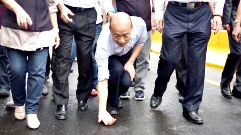 外傳韓國瑜可能參選黨主席,引發藍營耳語與分裂,江啟臣7日表示,這樣的做法無法得逞。(圖 / 翻攝韓國瑜臉書)