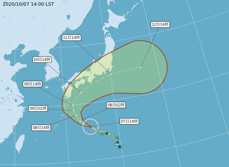昌鴻升中颱北轉撲日本 對<b>國慶連假</b>無影響