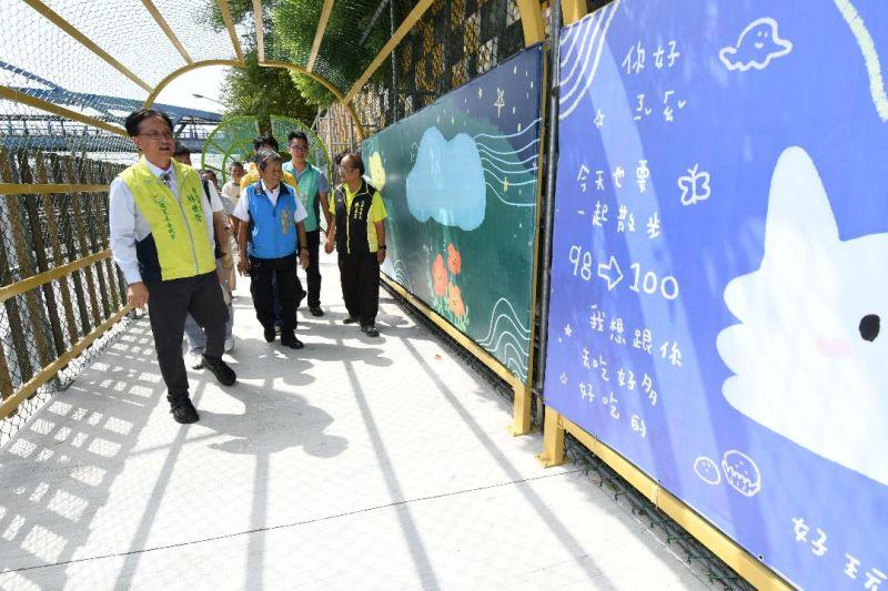 ▲結合了鐵道文化打造出的綠廊步道,將成為彰化鐵道觀光旅遊的新亮點。(圖/記者葉靜美攝,2020.10.07)