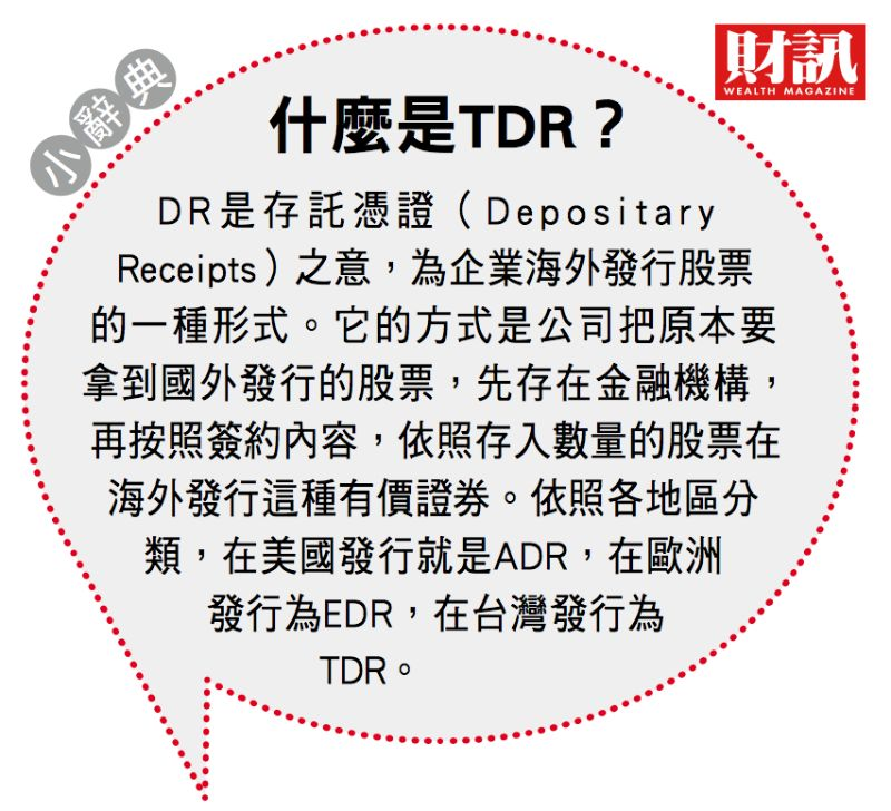 ▲TDR與國外上市的原股間應具有連動關係。(圖/財訊雙週刊)