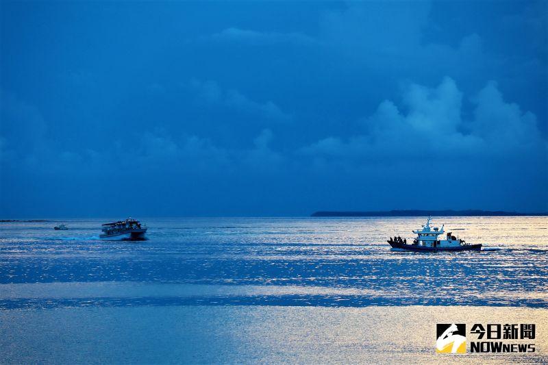 ▲望安鄉由32座大小島嶼組成,散布在東西約38公里、南北約18公里的海面上。(圖/記者張塵攝,2020.10.08)