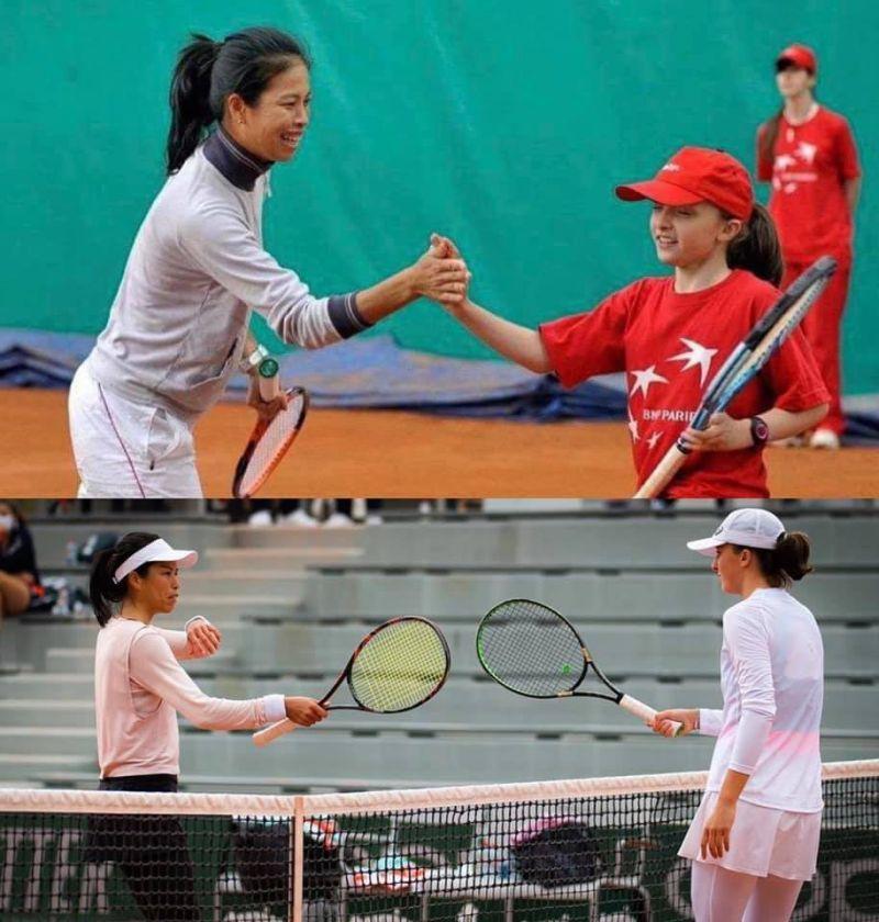 ▲我國網球一姊謝淑薇貼出和19歲波蘭小將10年前後對比照。(圖/取自Su-Wei Hsieh 夢遊寫真人謝淑薇臉書粉專)