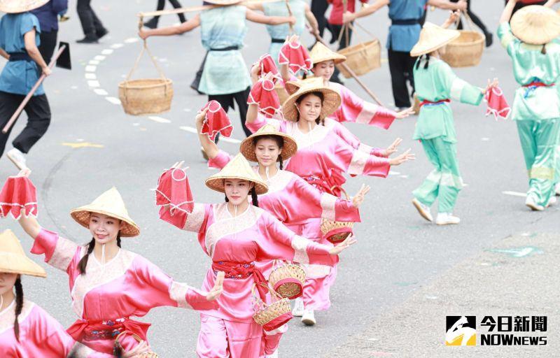 ▲雙十國慶,民間技藝團體表演。(圖/記者葉政勳2020.10.10)