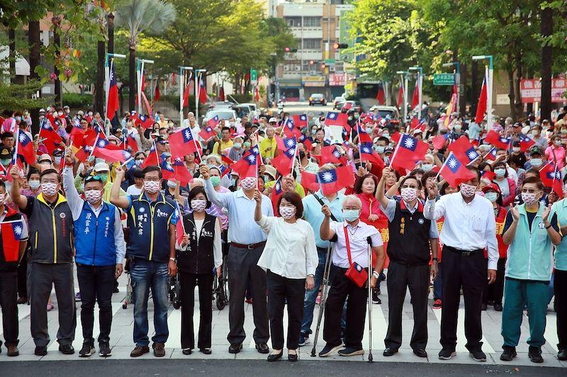 ▲嘉義市政府舉行國慶升旗。(圖/嘉義市政府提供)