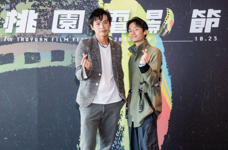 ▲大鶴(右)拍攝期間得了流感。(圖/桃園電影節)