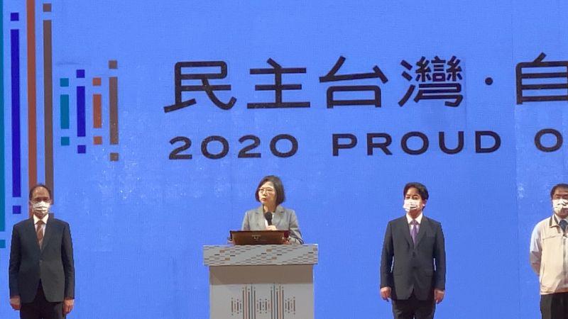 ▲蔡英文鼓勵國人多到台南旅遊,體會台南知名的美食、美景。(圖/記者陳聖璋攝, 2020.10.10)
