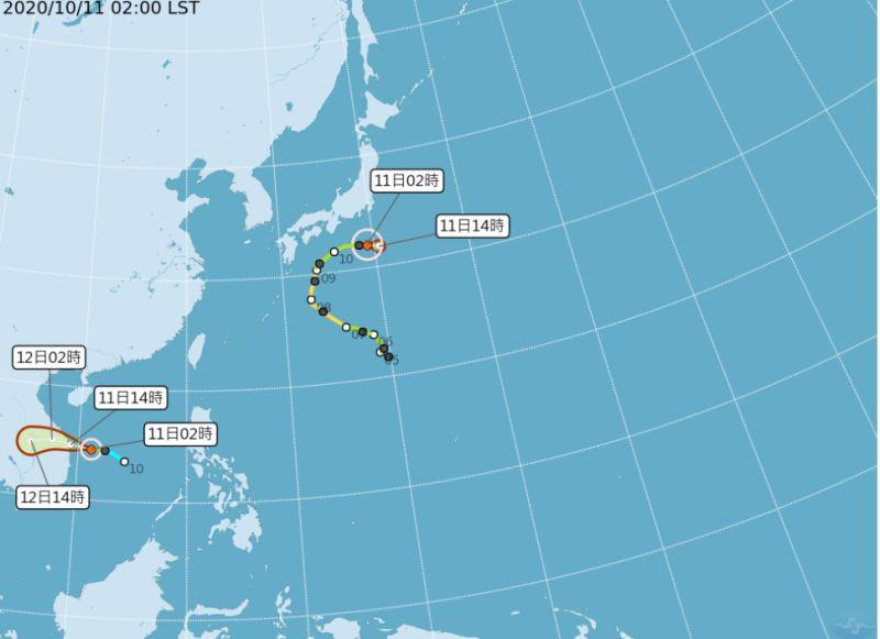 ▲中央氣象局表示,原位於南沙島海面的熱帶性低氣壓已於10月11日凌晨2時發展為輕度颱風蓮花,預計朝中南半島前進,對台灣沒有直接影響。(圖/中央氣象局提供)