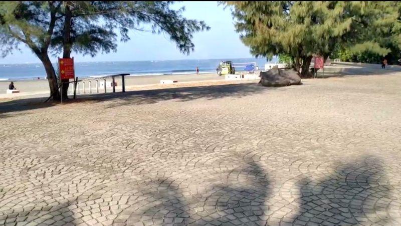 ▲經過環保局人員努力清理了一夜。漁光島又恢復了往日的美麗(圖/記者林怡孜摄,2020,10,11)