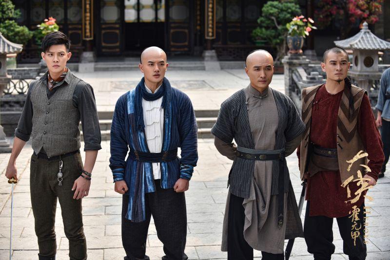 ▲寇家瑞(左)飾演霍元甲徒弟。(圖