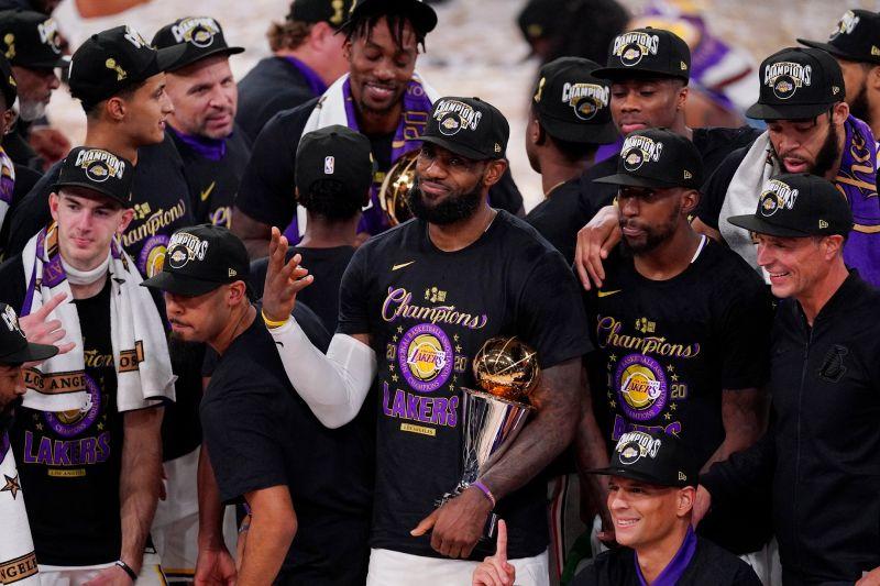 ▲「詹皇」LeBron James生涯四度奪冠都獲FMVP肯定。(圖/美聯社/達志影像)