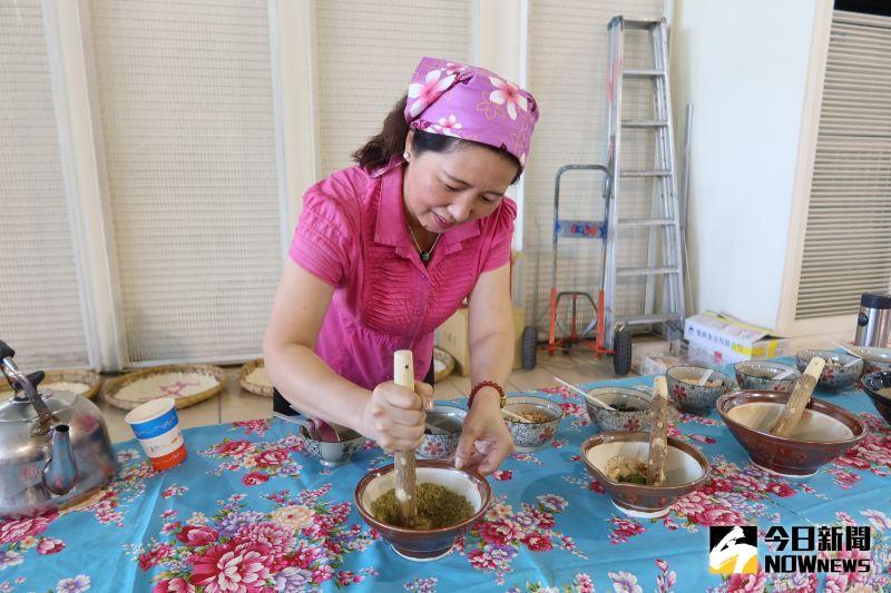 ▲擂茶為客家人招待貴賓的一種茶點。(圖/記者陳雅芳攝,2020.10.12)
