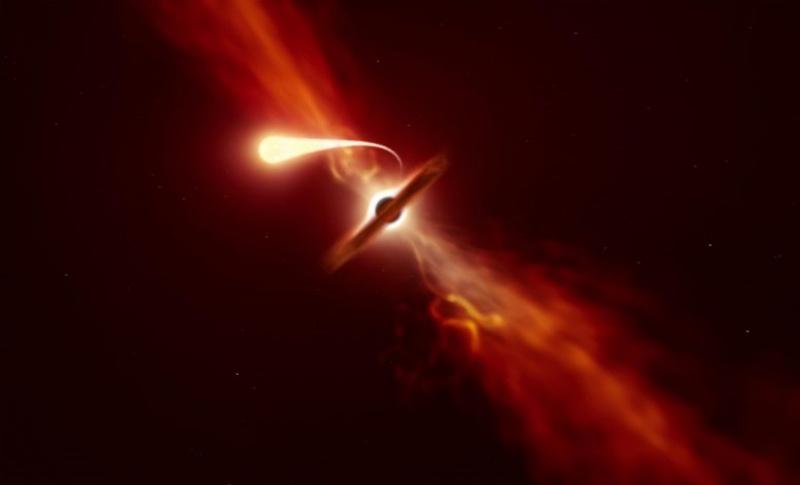▲天文學家捕捉到超大質量黑洞。 (圖/ scitechdaily )