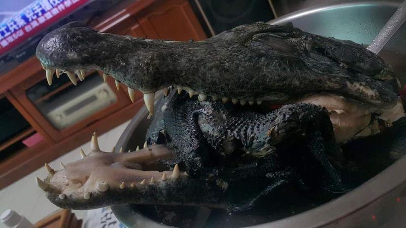 ▲煮烏骨雞湯包配「鱷魚頭」!老饕神食譜讓網友全臉綠。(圖/翻攝自臉書社團《全聯消費經驗老實說》)