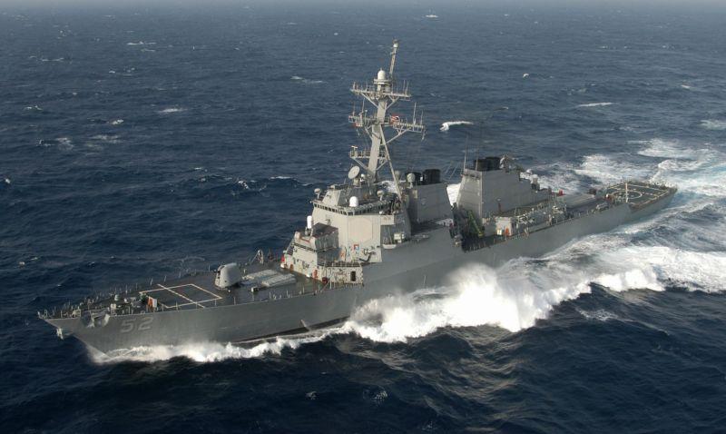 <b>美軍</b>證實 飛彈驅逐艦貝瑞號通過台灣海峽