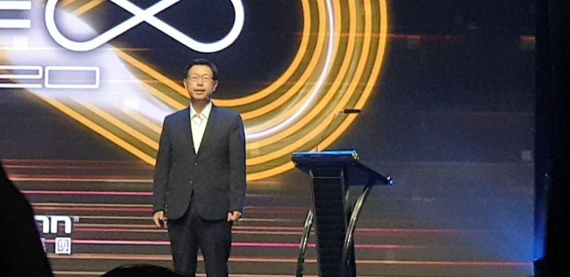 ▲鴻海科技日16日登場,董事長劉揚偉親自主持。(圖/記者許家禎攝)