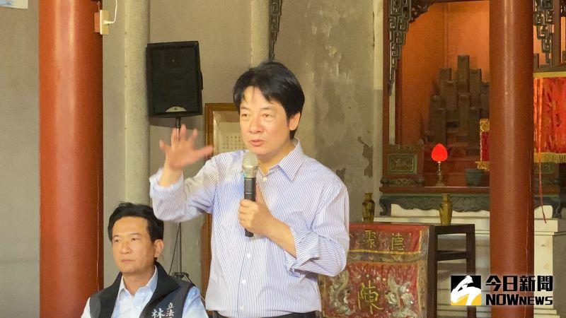 ▲賴清德介紹台南在地文化的種種特色。(圖/記者陳聖璋攝,2020.10.17)