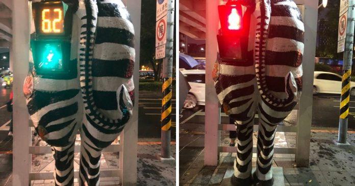 台北<b>街頭</b>竟驚見斑馬屁股 外媒記者大讚:台灣人有創意!