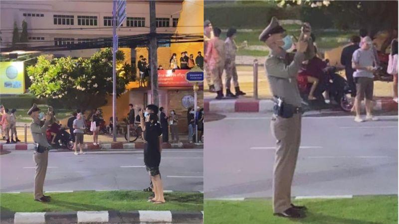 泰國示威情侶高舉「3指禮」!拍攝者身份曝 全場秒飆淚