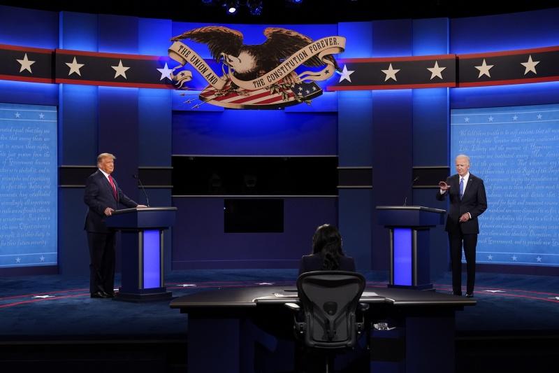 ▲美國總統候選人最終場電視辯論,台灣時間 23 日上午登場。(圖/美聯社/達志影像)